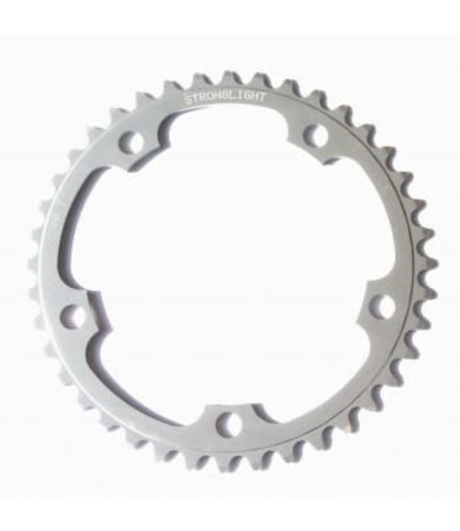 Stronglight Plateaux 5083 9/10 Spd Chainring 5 Bolt 130mm BCD 42t Silver