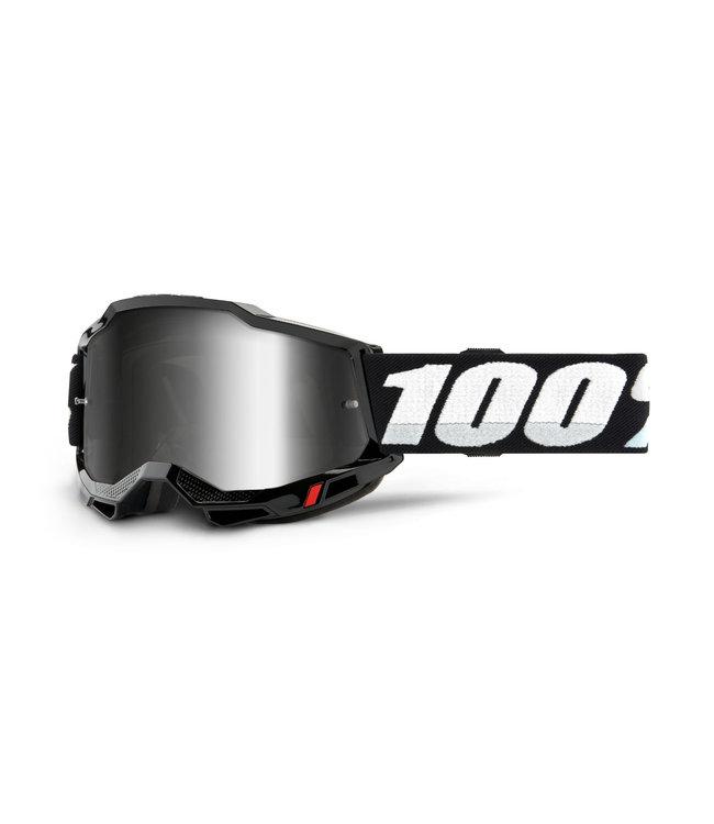 100% 100% Accuri 2 Goggle Black Mirror Silver Lens