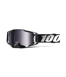 100% 100% Armega Goggle Black -  Silver Flash Mirror Lens