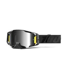 100% 100% Armega Goggle BlackNightfall -  Mirror Silver Lens