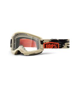 100% 100% Strata 2 Goggle Kombat - Clear Lens