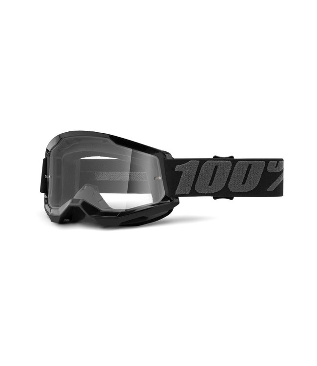 100% 100% Strata 2 Goggle Black - Clear Lens