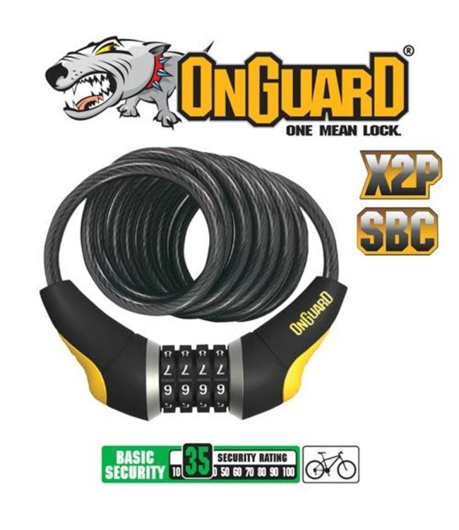 100% Onguard Lock Doberman Coil Combo 185mm 10mm