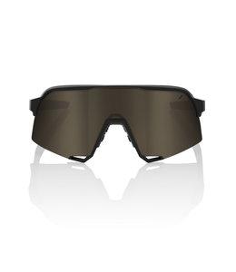 100% 100% Sunglasses  S3 Soft Tact black Soft Gold