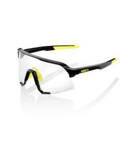 100% 100% Sunglasses S3 Gloss Black Photochromic