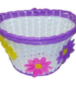 Basket Kids Flower White Purple #7900
