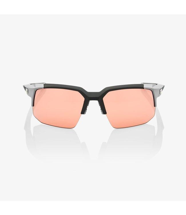 100% 100% Sunglasses Speedcoupe Soft Tact Grey HiPER Coral