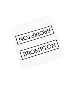 Brompton Brompton Decal Main Frame Brompton Logo Black
