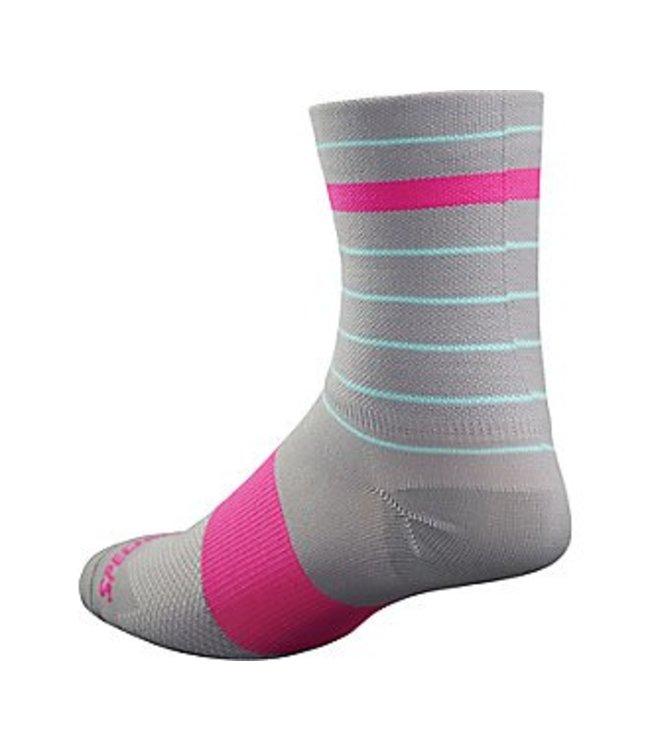 Specialized Specialized Sock Roubaix Tall Light Grey/Neon Pink L/XL