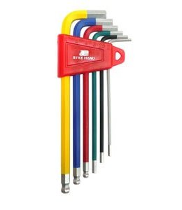 Colour Hex Key Wrench Set Small #6740