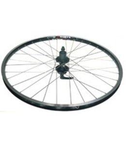 Alex Wheel Rear DM 18 Black Eyeleted Rim 36h Black Hub Silver Spokes