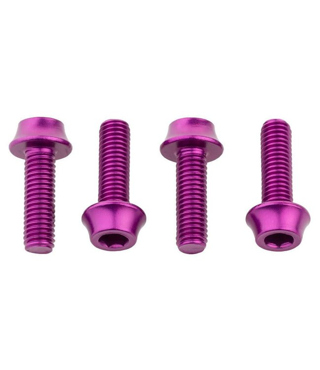 Wolf Tooth Wolf Tooth Water Bottle Cage Bolts - 4 Pieces - Purple