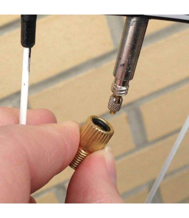 BPW Brass Presta Schrader Adapter