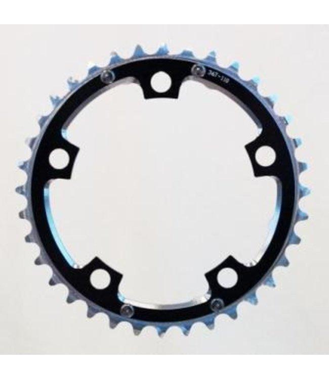 BPW Chain Ring, 36T x 110 BCD 9/10 speed, BLACK, w/ramps