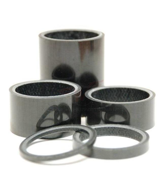 "Wheels Manufacturing Wheels Manufacturing 1-1/8"" 5mm Headset Spacer Carbon"