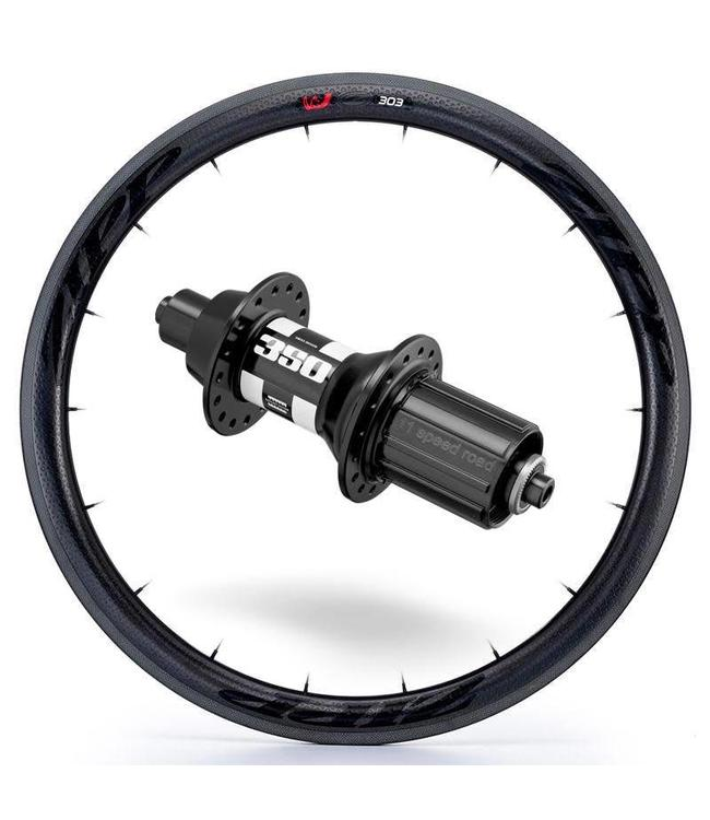 Zipp Zipp Rear Wheel 303 Firecrest with DT350 Hub Blk 700c