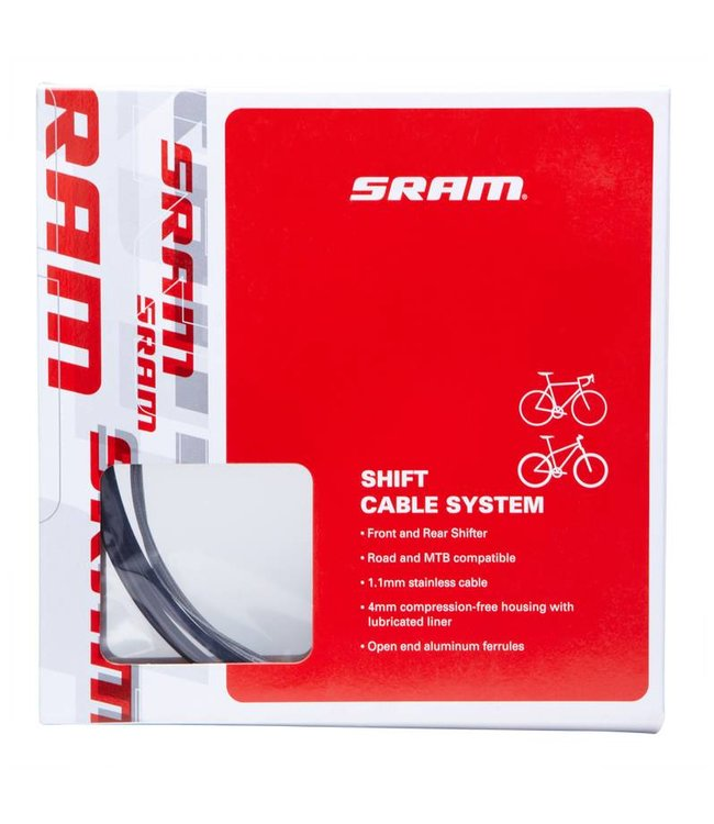 Sram Sram Shift Cable Kit 4mm Black  Road MTB