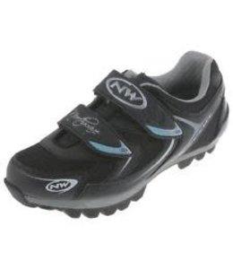 Northwave Womens MTB Shoe Elisir Silver/Blue/Black Size 38