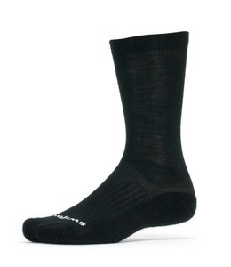 Swiftwick Swiftwick Sock Pursuit Merino Seven Black Medium