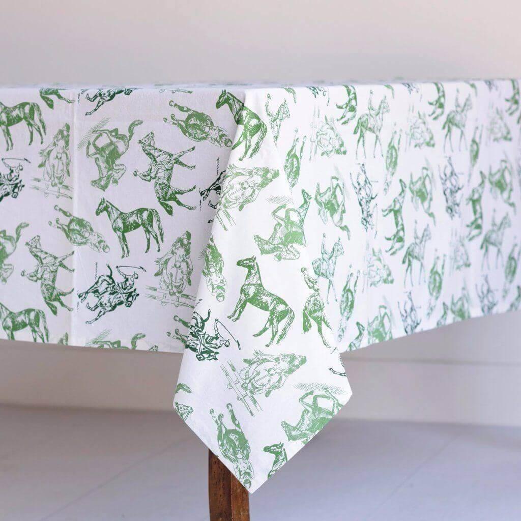 Pomegranate Equestrian Sketch Tablecloth