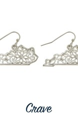 Detailed State of Kentucky Earrings