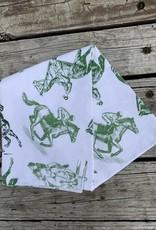 Pomegranate Equestrian Sketch Tea Towels