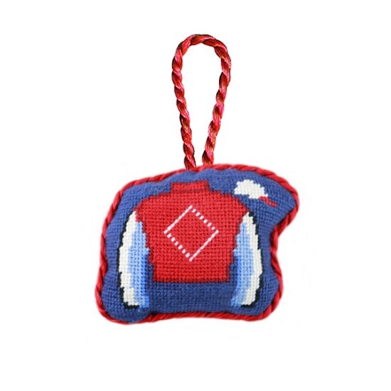 Jockey Silk Needlepoint Ornament