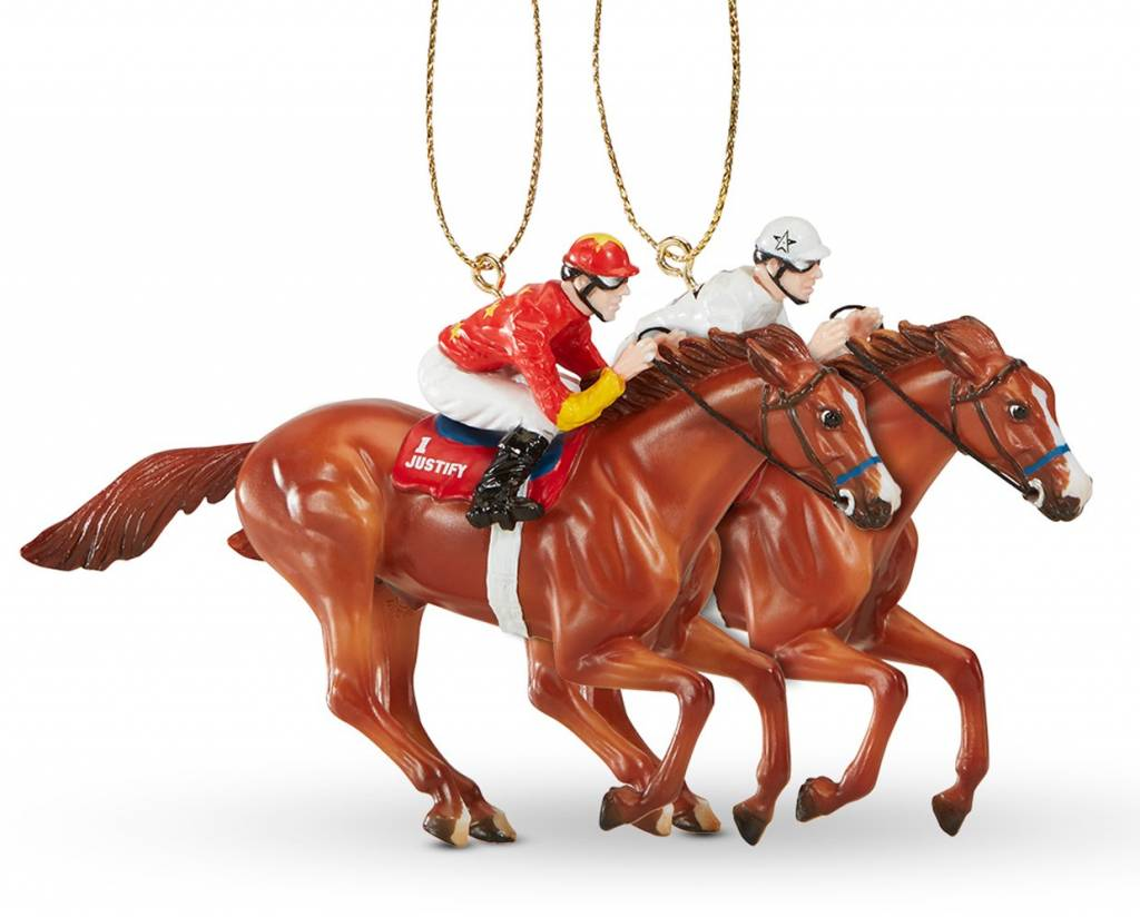 Christmas Horse Tack.Breyer Justify Breyer Christmas Ornament