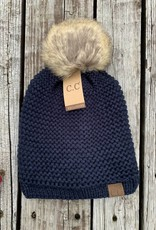 Adjustable Pom Pom Hat