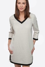 Tan & Black Linen Tunic