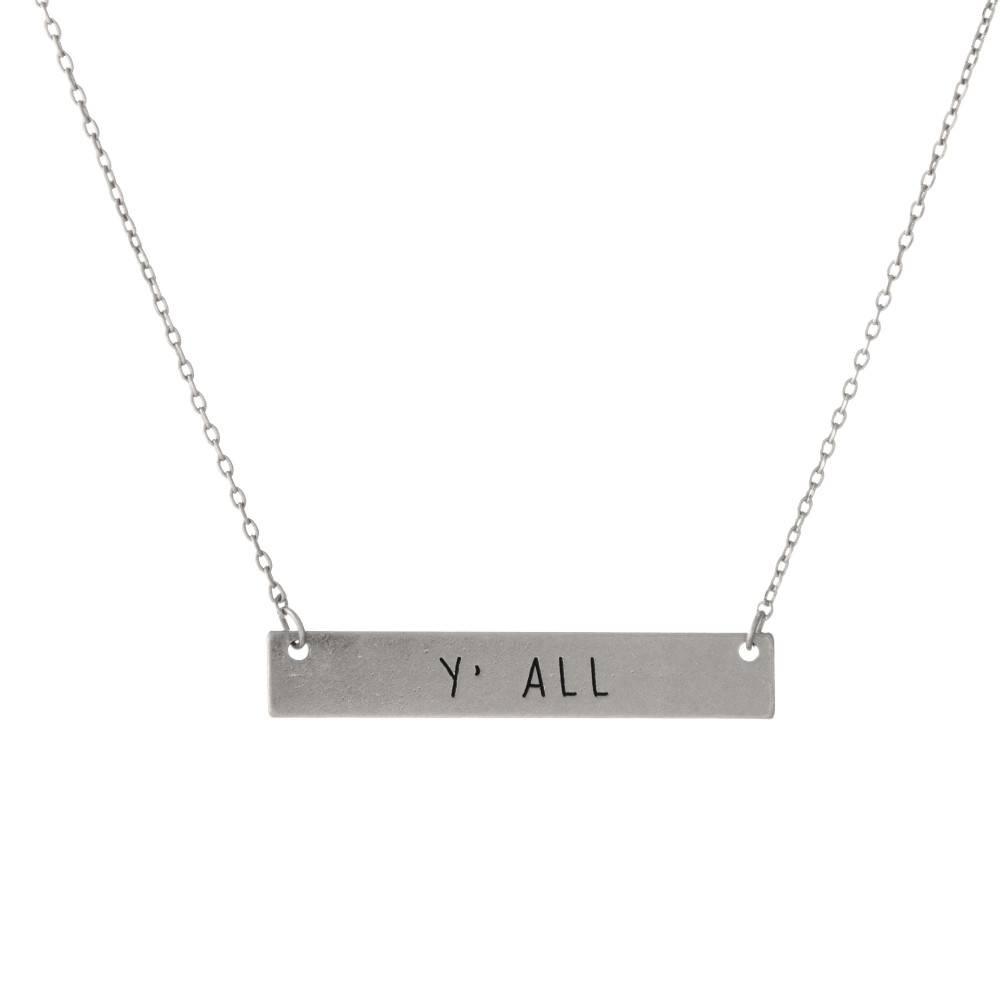 Y'all Bar Necklace