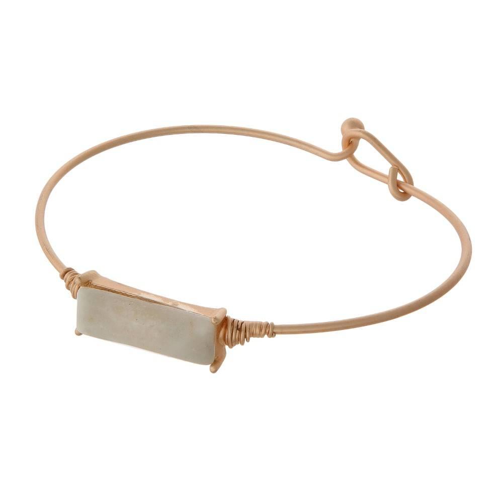 Wire Stone Bracelet