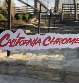 New Logo California Chrome Sticker