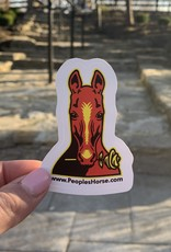 People's Horse Sticker