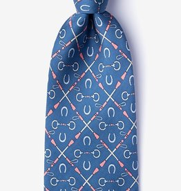 Cream of the Crop Dark Blue Silk Tie