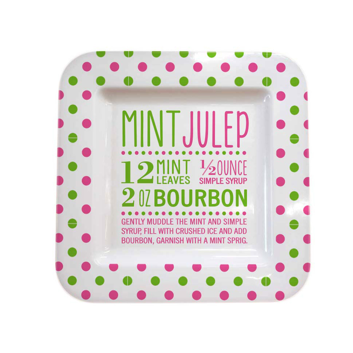 Mint Julep Melamine Square Platter