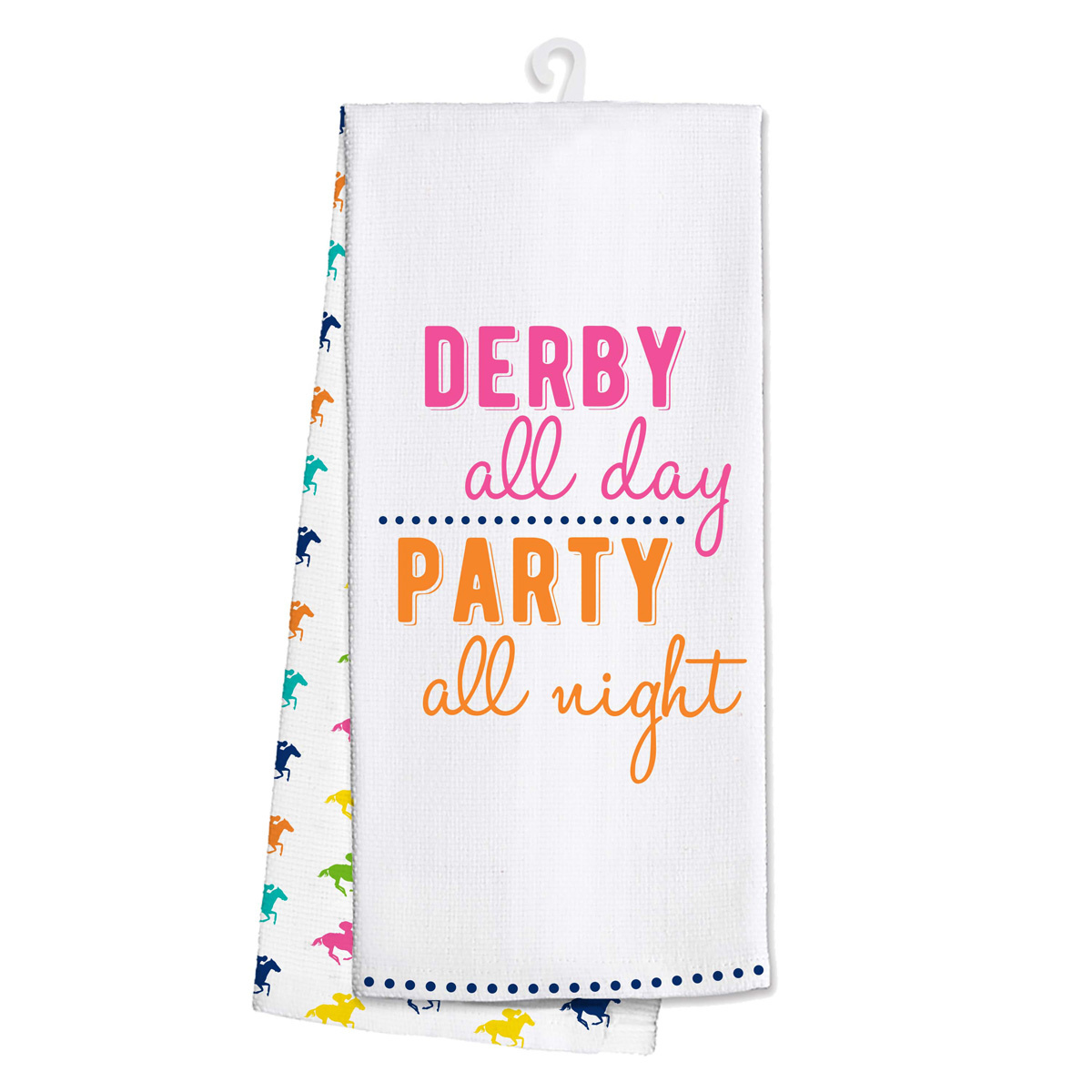 Derby All Day-Party All Night Tea Towel