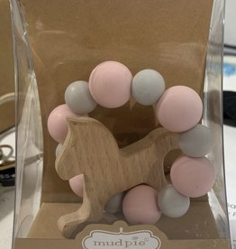 Pink Wooden Horse Teether