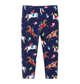 Horse Print Leggings - Girls