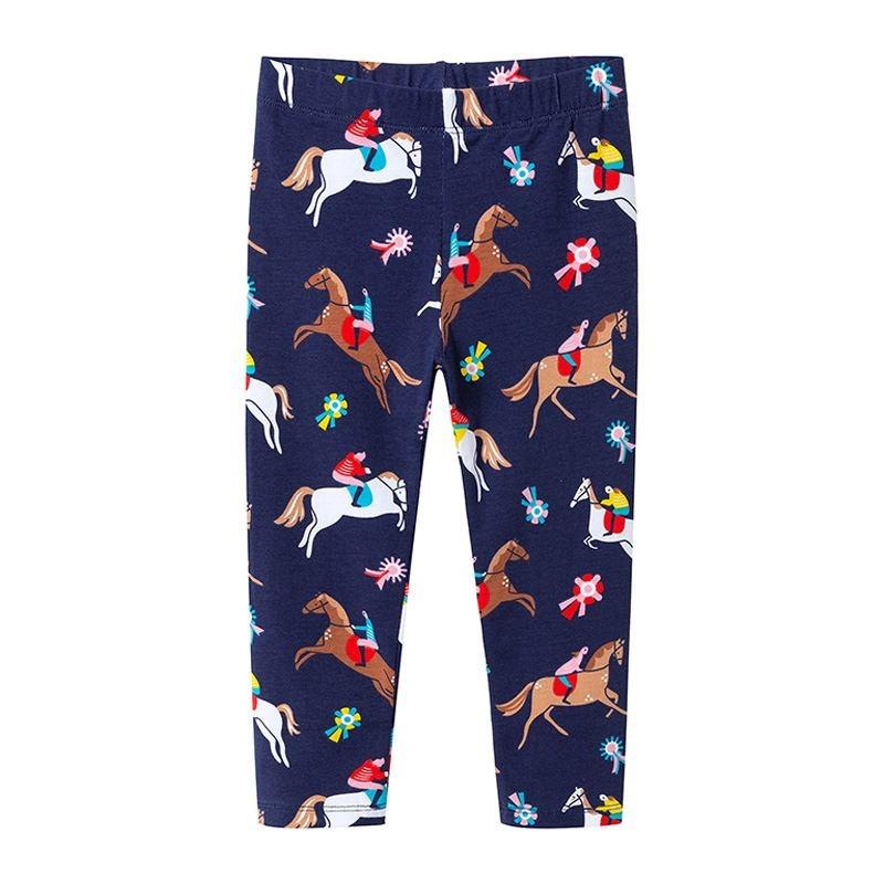 Horse Print Leggings - Girls