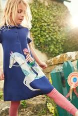 Girls Cotton Peter Pan Collar Dress