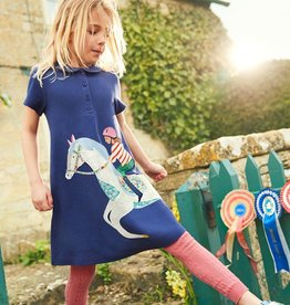 Girls Cotton Peter Pan Collar Dress