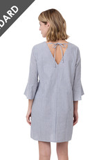 Seersucker Bell Sleeve Dress