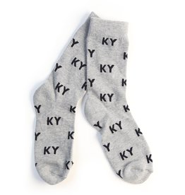 KY for KY Ky Letter Socks (Grey and Black)