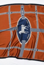 Double Color Printed Equestrian Scarf