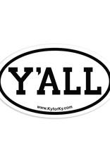 Y'all Cooler Sticker