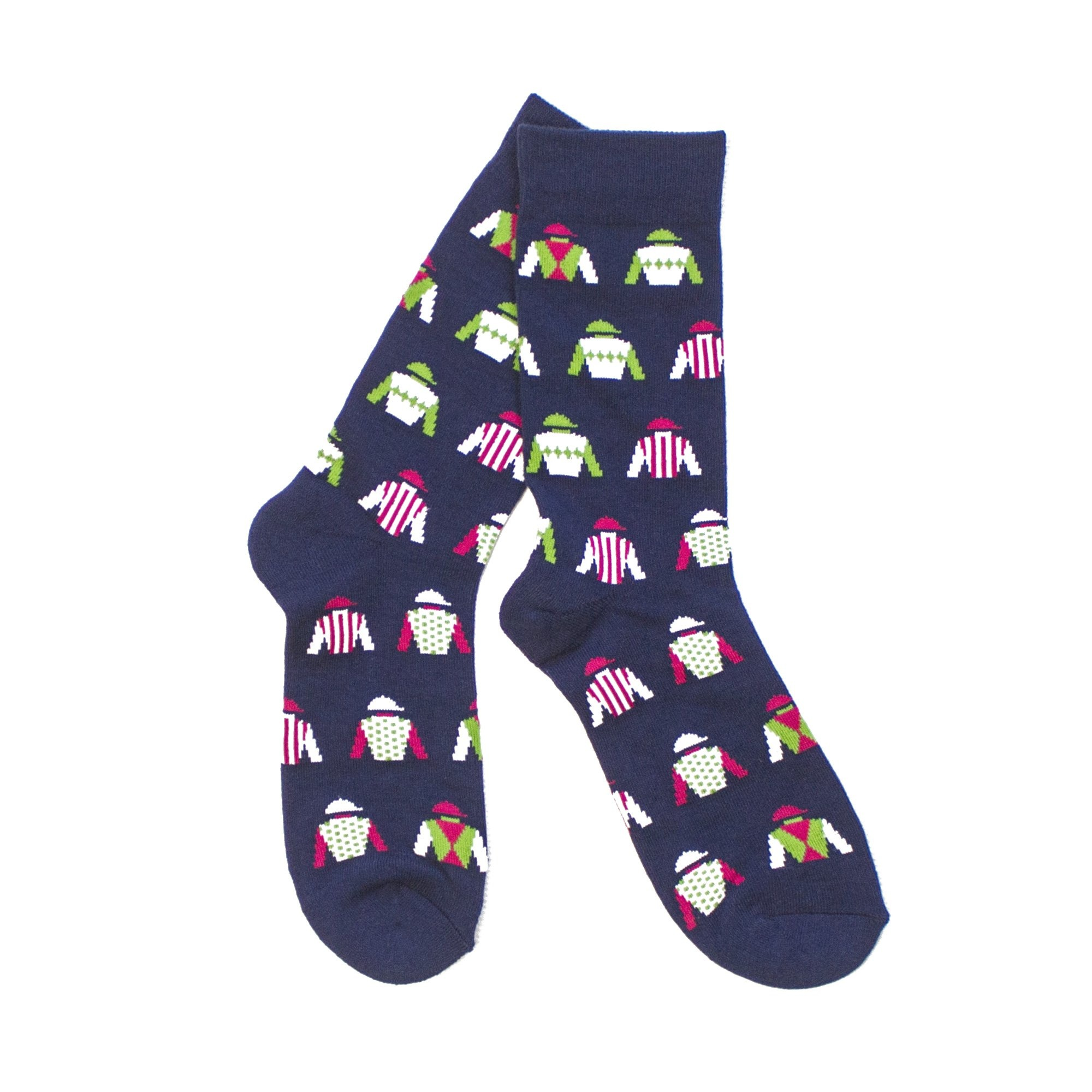 Jockey Silks Socks (Navy)