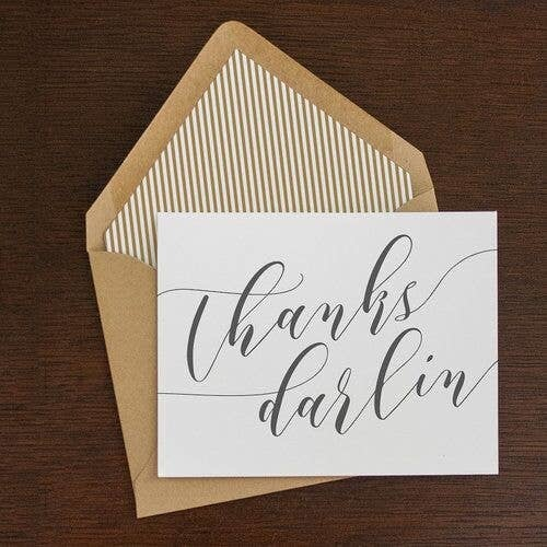 Thanks Darlin Folding Note Set