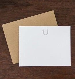 Horse Shoe Flat note Stationary Set