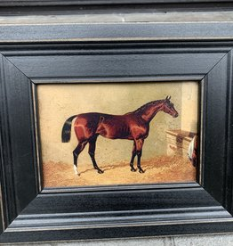 Framed Equestrian Painting
